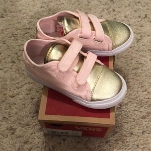 New! Toddler pink and gold Vans